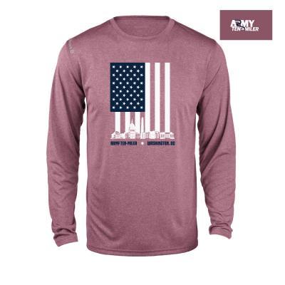 Unisex Vertical Flag Long Sleeve Shirt